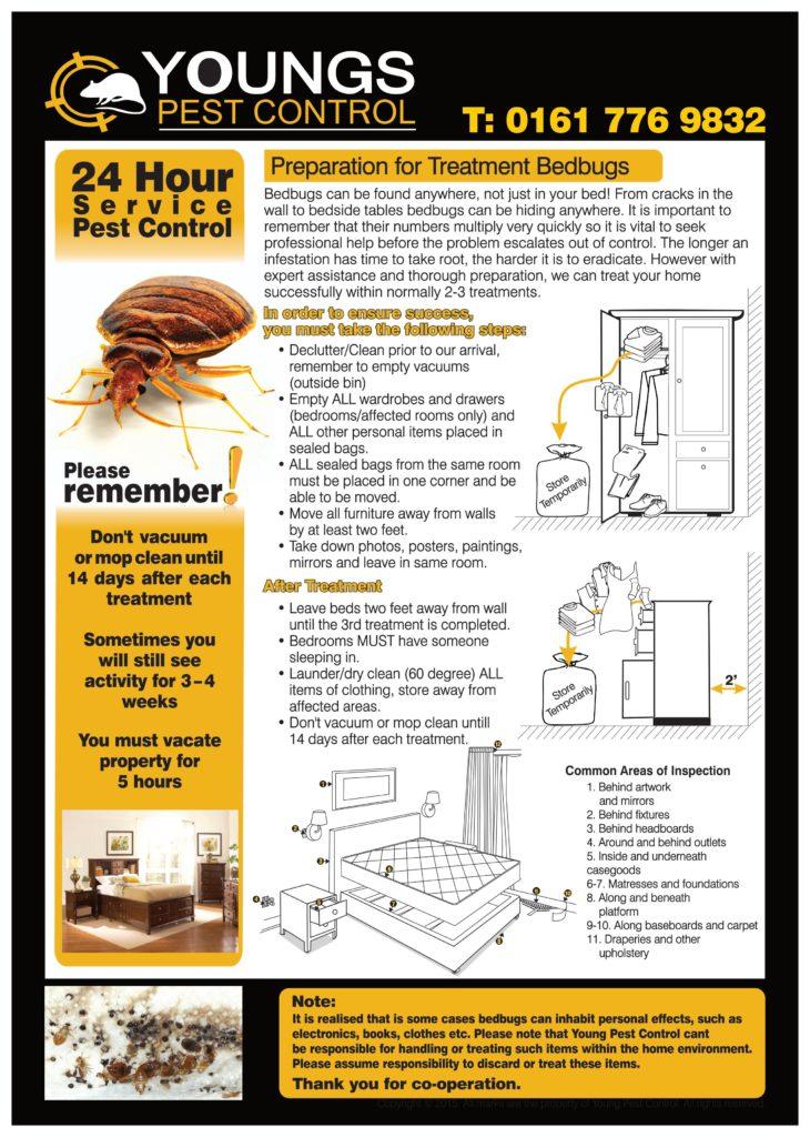 Bedbug house prep